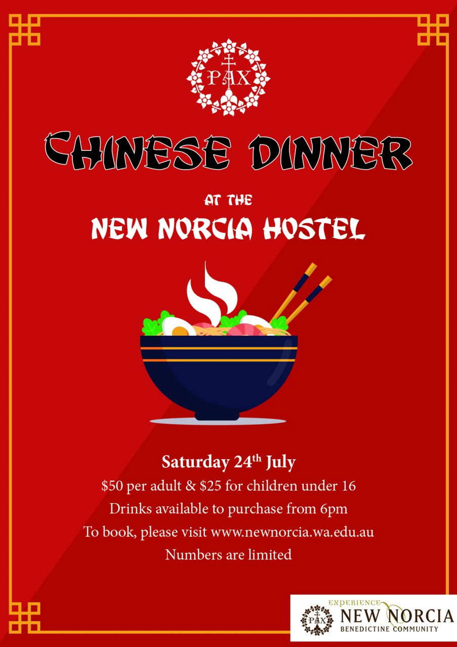 Chinese Dinner at the New Norcia Hostel