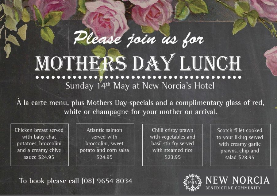 New Norcia Hotel - Mothers Day Lunch